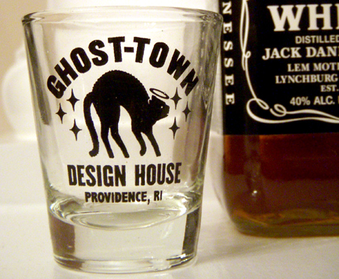 Ghost-Town Shot Glass