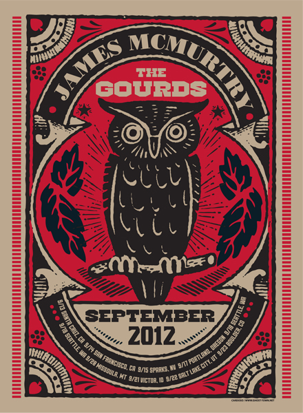 The Gourds / James Mcmurtry Tour Poster