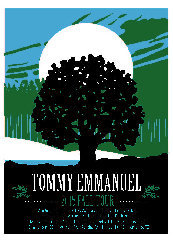 Tommy Emmanuel 2015 Fall Tour